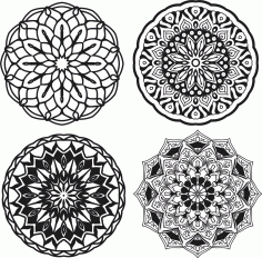Mandalas Set Free CDR Vectors File