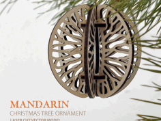 Mandarin. Christmas tree ornament CNC Laser Cut Free DXF File