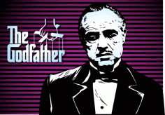 Marlon Brando Godfather Poster CDR File