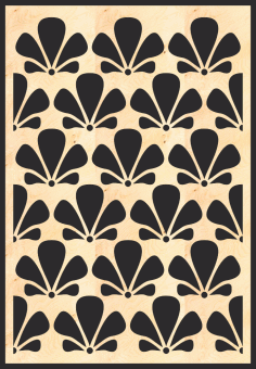 MDF Decorative Grille Panel Pattern Free Vector CDR File