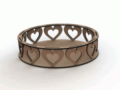 MDF Laser Cutting Heart Trays Designs DXF File