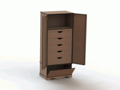 MDF Organizer with Drawer CNC Laser Cutting Free CDR File