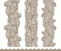 Mehndi Border Designs Vector Art Free CDR Vectors File