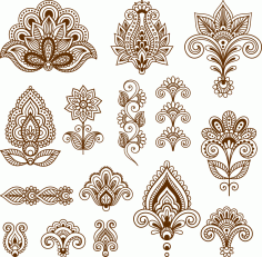 Mehndi Free Vector Art Free CDR Vectors File