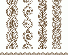 Mehndi Style Ornamental Border Free CDR Vectors File