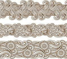 Mehndi Vector Pattern Free CDR Vectors File