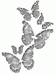 Memory Box Butterfly Vector Art Free DXF Vectors File