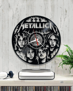 Metallica Vinyl Wall Clock Laser Cut CDR File