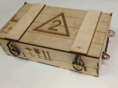Military Ammo Crate Style Wooden Wine Box Laser Cut CDR File