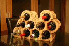 Mini Cellar Small Wine Rack Bottle Holder Storage DXF File