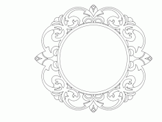 Mirror Frame Design 056 Free DXF Vectors File