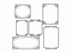 Mirror Frames Design 033 Free DXF Vectors File