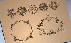 Mirror Frames Laser Cut Design Free DXF Vectors File