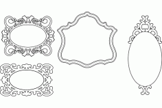 Mirror Frames Simple Designs Free DXF Vectors File