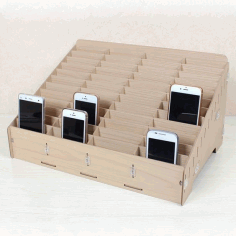 Mobile Phone Store Rack Laser Cut Free CDR File