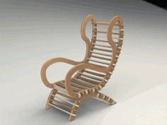 Modern Design Wooden Chair CNC Laser Cutting Free DXF File