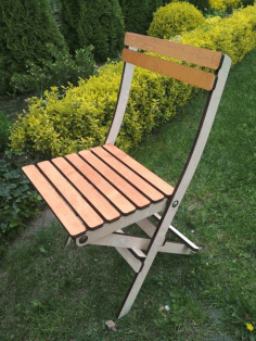 Modern Folding Chair CDR File CDR File