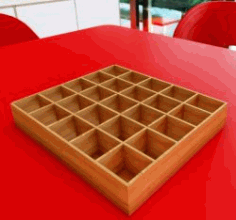 Mold Box organizer for Laser Cut DXF File
