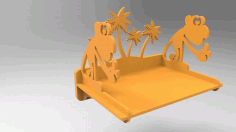 Monkey Shelf CNC Laser Cutting Free CDR Vectors File
