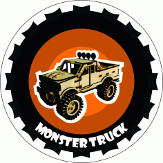 Monster Truck Laser Cut DXF File