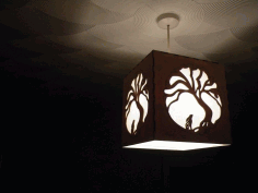 Moon Hare Night Light Lamp Laser Cut DXF File