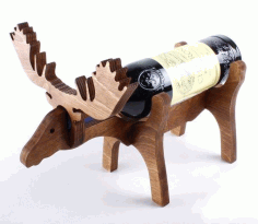 Moose Wine Bottle Holder 10mm Laser Cut CDR File
