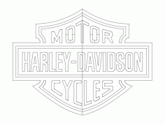 Motor Harley-Davidson Cycles Laser Cut Design DXF File