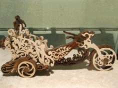 Motorbike With Bottle of Wine for Laser Cut CNC DXF File