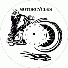 Motorcycles Wall Clock CDR File