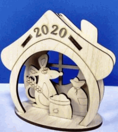Mouse House 2020 for Laser Cut CNC CDR File