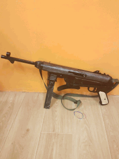 MP40 Schmeisser Rubber Band Gun Laser Cut CDR File