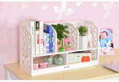 Multifunction Desktop Storage Rack Bookcase Shelf Laser Cut DXF File