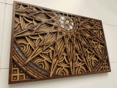 Multilayer Frame Wall Art Laser Cut Free CDR File