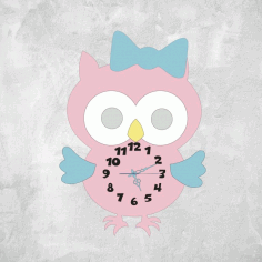 Multilayer Owl Clock CNC Laser Cutting Free Vector CDR File