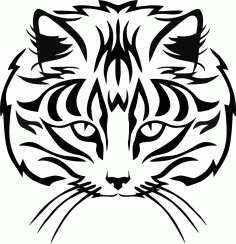 Muzzle Cat Vector Free CDR Vectors File