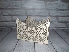 Napkin Holder Snowflake Laser Cut CDR File