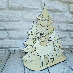 New Year Christmas Composition Laser Cut CDR File