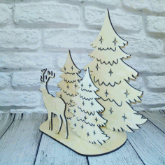 New Year Christmas Decoration Laser Cut Design CDR File
