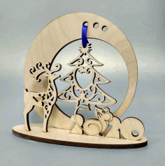 New Year Souvenir Laser Cut CDR File
