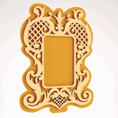 Nice mirror frame Free DXF Vectors File