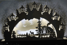 Night Light Scenery Laser Cutting Laser Cut CDR File