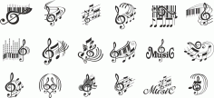 Note Music Vector Free CDR Vectors File