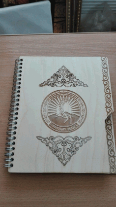 Notebook Cover Laser Cutting Design CDR File