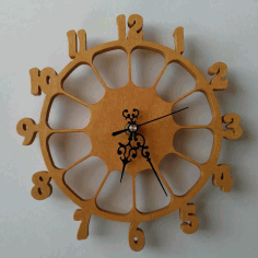 Numeric Clock CNC Laser Cutting DXF File