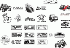 Off Road Stickers Pack Free CDR Vectors File