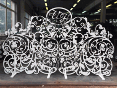 Openwork Wedding Screen Free CDR Vectors File