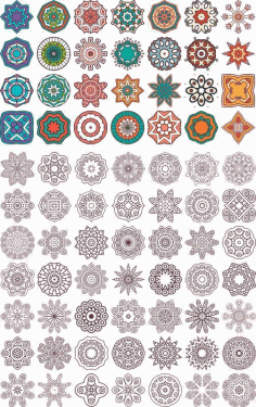 Ornament beautiful card with mandala Free CDR File