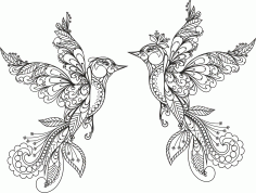 Ornament Birds Vector Free CDR File