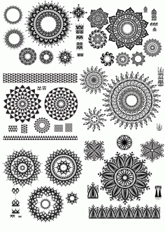 Ornamental Design Free CDR Vectors File