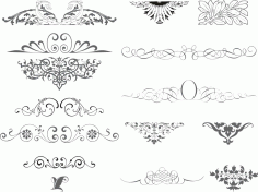 Ornaments Collection Free CDR Vectors File